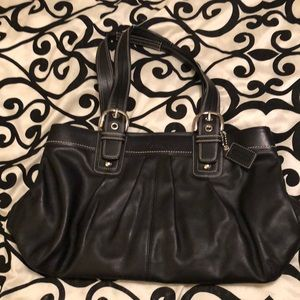 Coach black large soho buckle purse